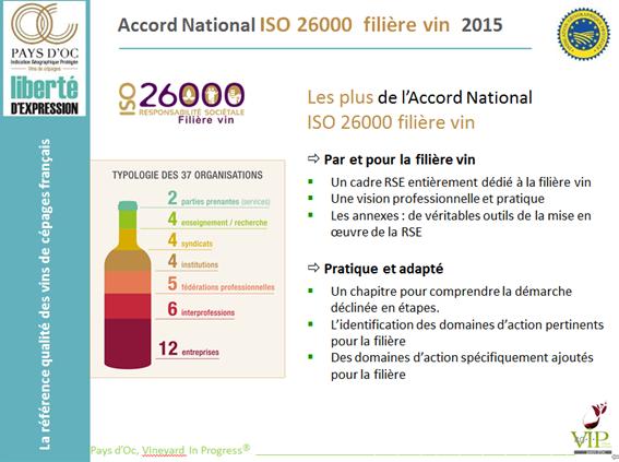 les plus de l ISO 26000 vin